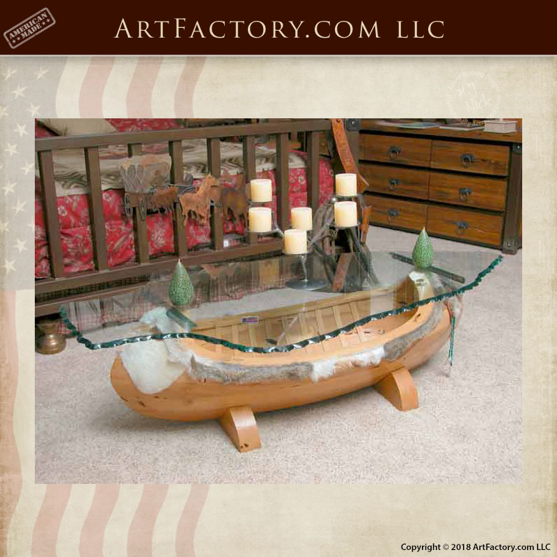 Nice Arapaho Canoe Inspired Coffee Table When Designing ...