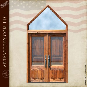 steeple top wood doors