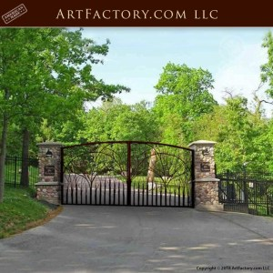 Wrought Iron Estate Gate