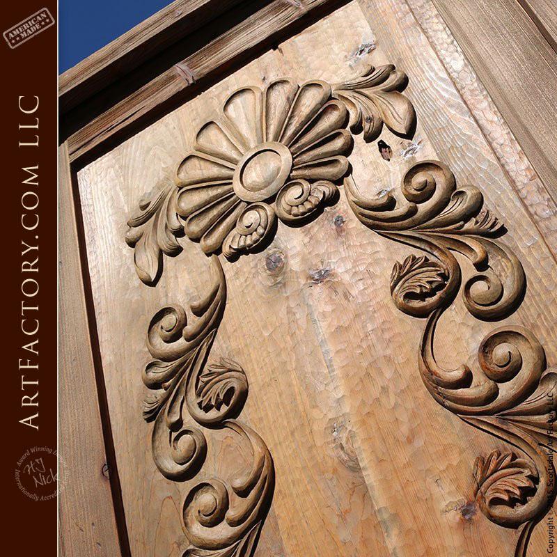 Baroque Rose hand carved door