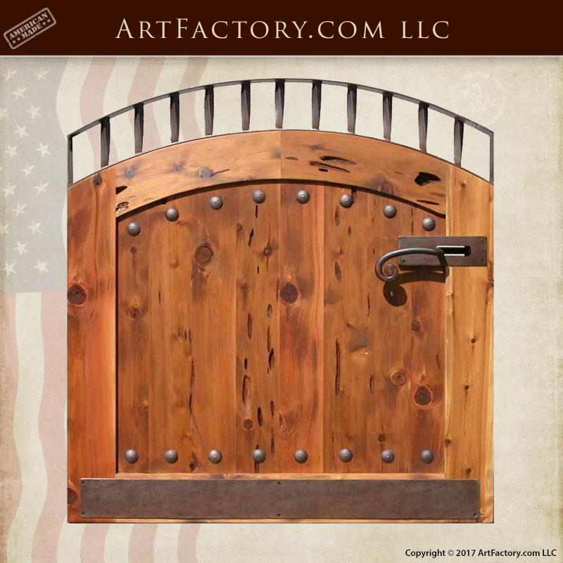 custom courtyard gate