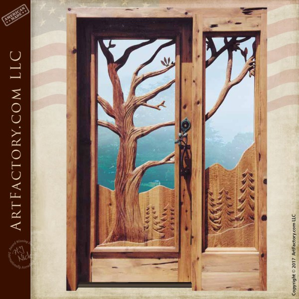oak tree custom door