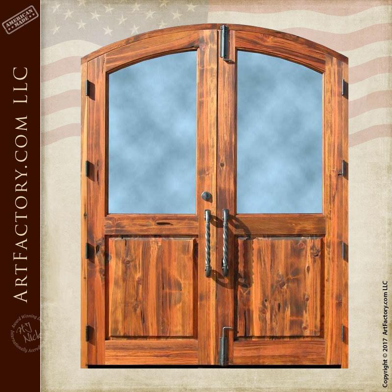 custom semi arched double doors