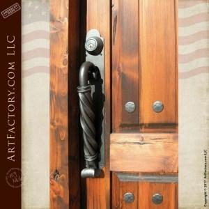 wood panel speakeasy door