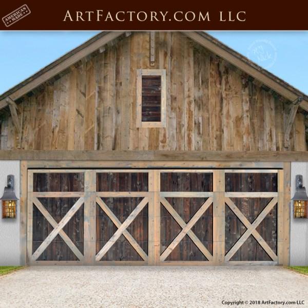 crossbuck garage doors