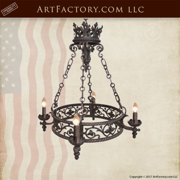 blacksmith hand forged custom chandelier