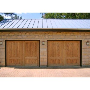 Garage Doors Solid Cedar Matched To Entry Doors