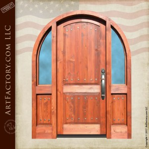 arched craftsman front door