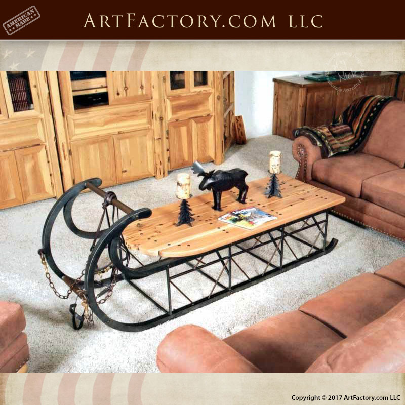 Custom Sleigh Coffee Table An H J Nick Original Design