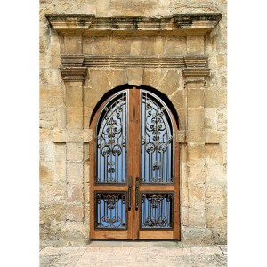 Hand Forged Wrought iron And Solid Wood Doors