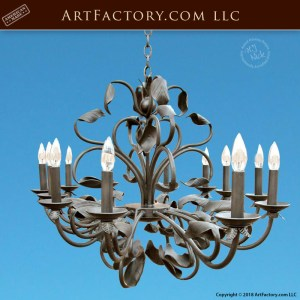 Hand Forged Wrought Iron Chandelier