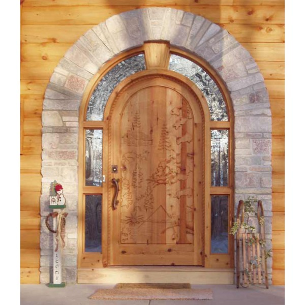 Entrance Door Custom Door With Full Arch Surround