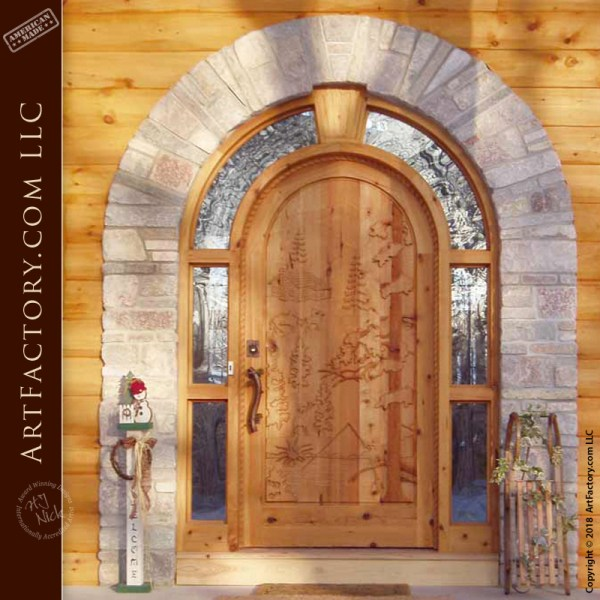 Wilderness Scene Entrance Door