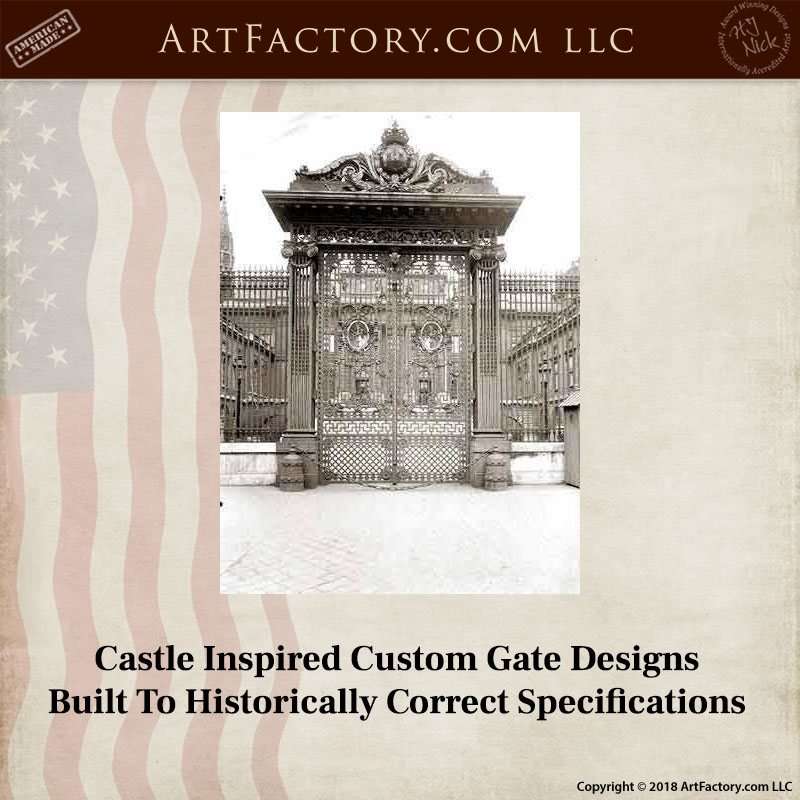 historic French palace gate