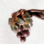 Custom Drawer Pull - Grape Vines And Clusters