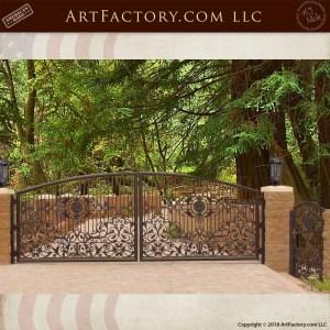 French ironwork driveway gate
