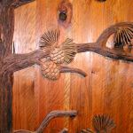 hand carved hard wood doors