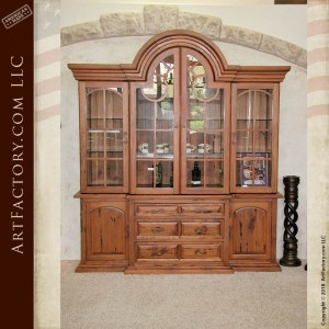 custom exotic wood China cabinet