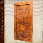 hand carved western style door