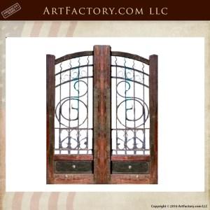 Arched Wood Iron Gates