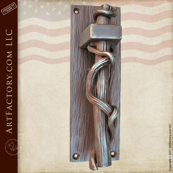 Door Pull - Twisted Iron Vine