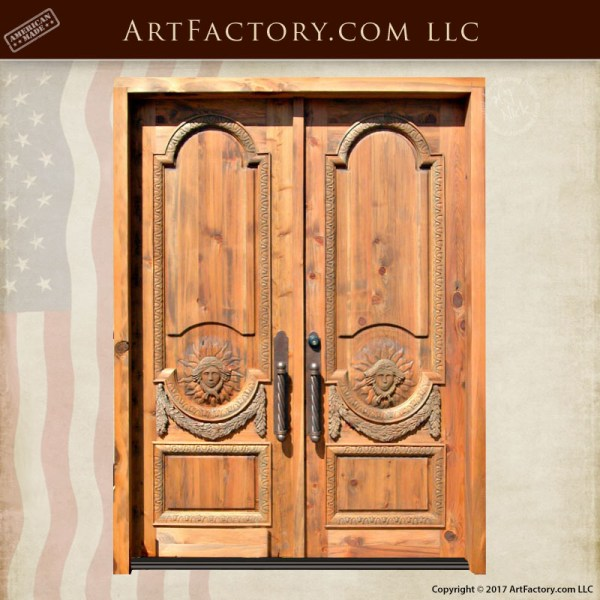 Greek hand carved doors