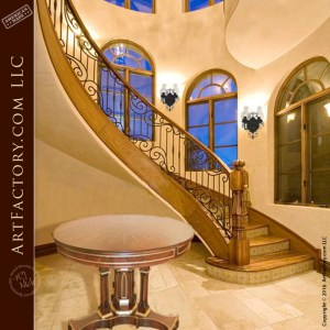 Custom Spiral Staircase Railing