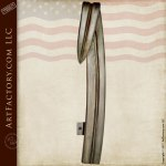 Door Pull Cattail Leaf Wrought Iron