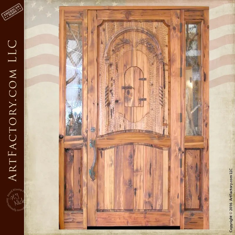 Astonishing Rustic Log Cabin Door Custom Solid Wood Entrance Doors Home Interior And Landscaping Ologienasavecom