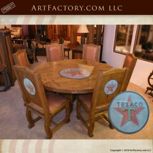 Texaco themed round table