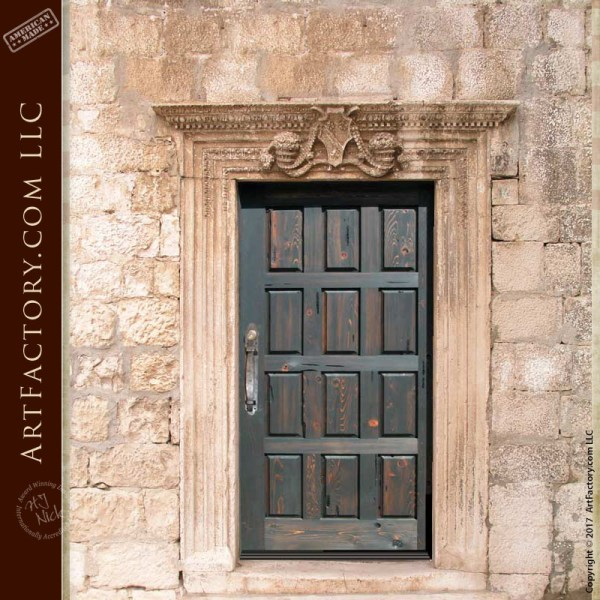 rustic wood panel door