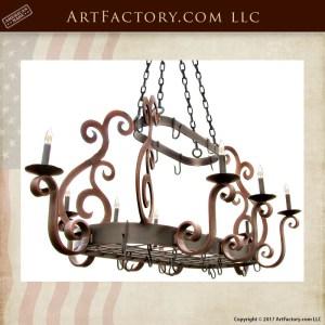 custom pot rack chandelier