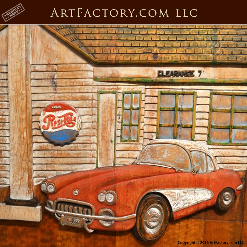 Grand route 66 carved door
