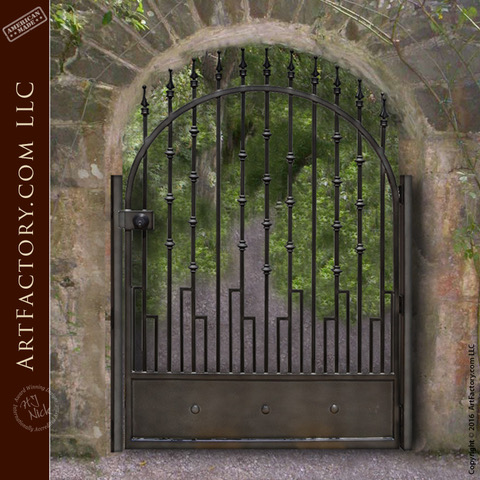 custom iron garden gate