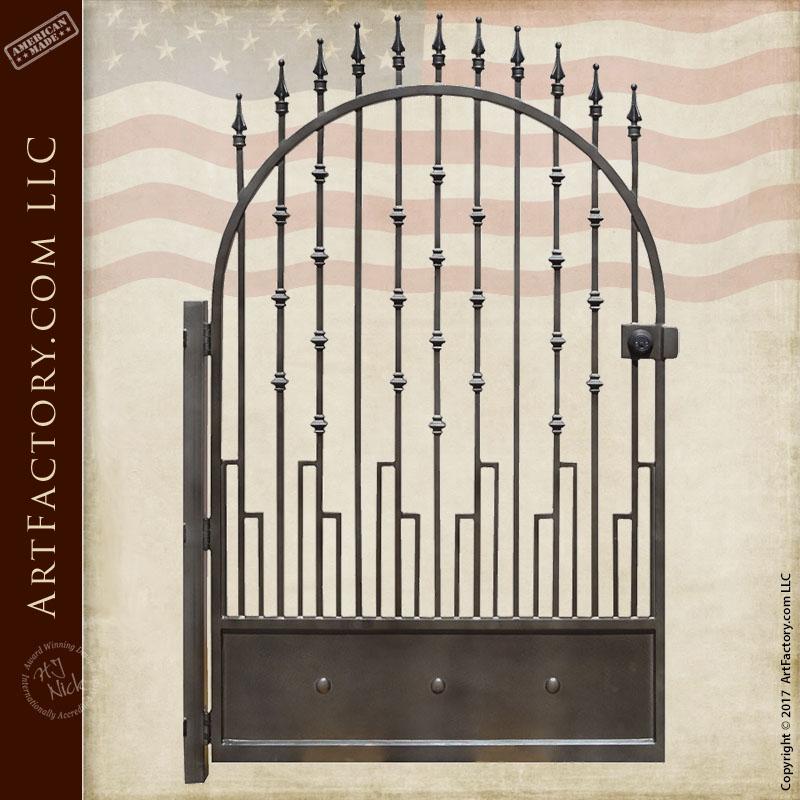 custom iron garden gate
