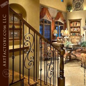 Decorative Iron Stair Railing