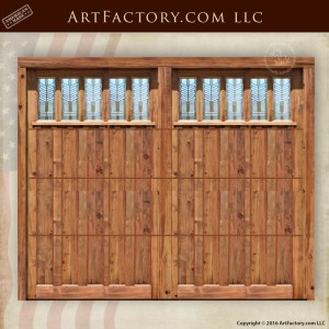 leaded glass craftsman garage door