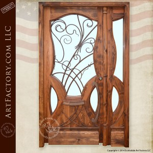 custom Art Nouveau door
