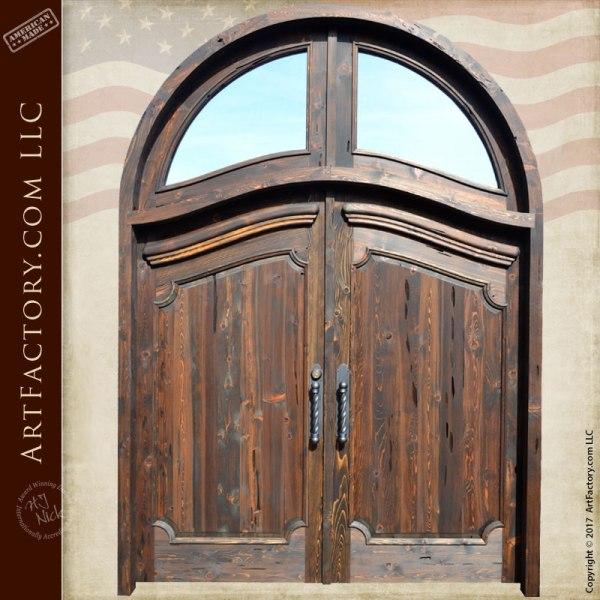 wood panel double entry doors