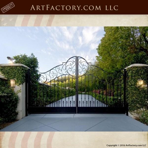 ornamental iron driveway gate
