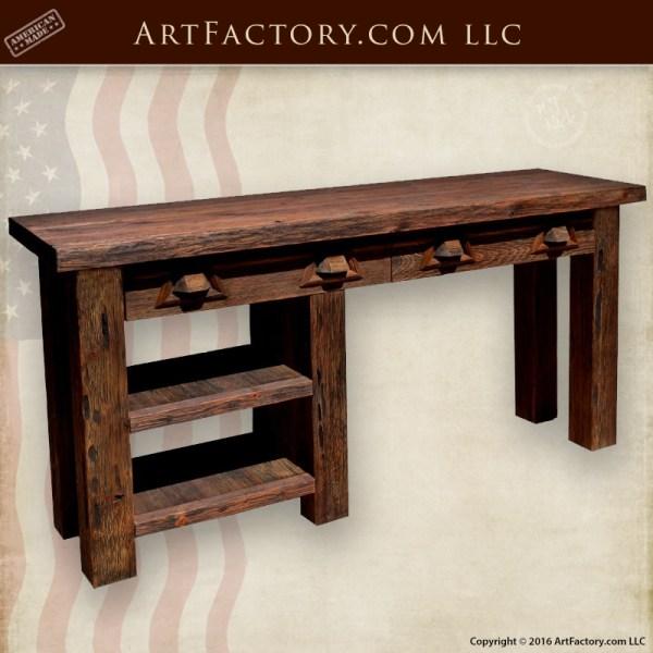 Custom Rustic Office Furniture Western Design Table CD025