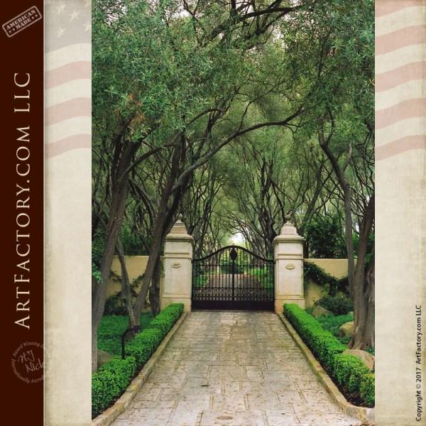Historic Wrought Iron Gates - Fine Art Estate Gates