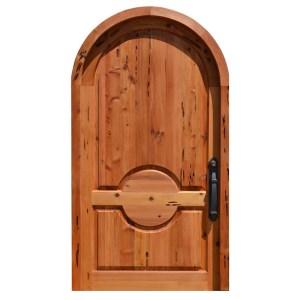 custom arched wooden door