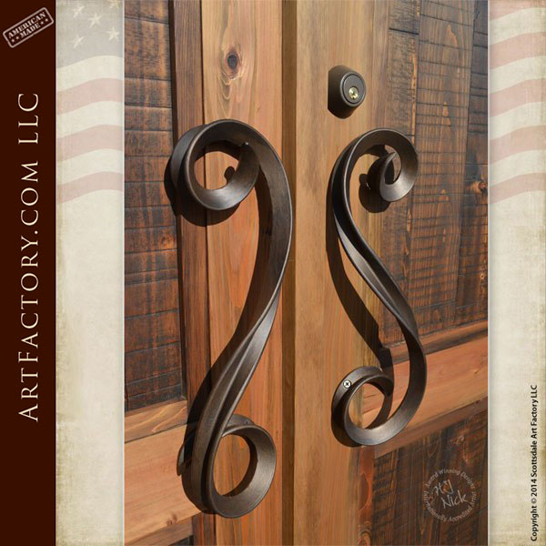 custom solid wood double doors