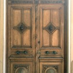 custom hand carved double doors