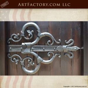 Custom Door Hinges Heavy Duty Iron Latches And Hardware