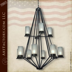 Contemporary Wrought Iron Chandelier