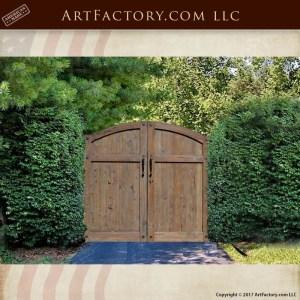 rustic wooden driveway gate