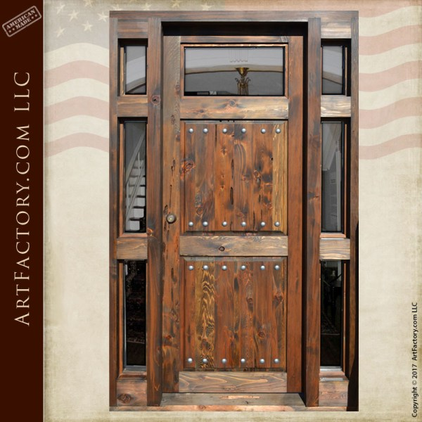 handmade craftsman entrance door
