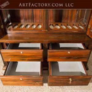 rustic custom gun cabinet